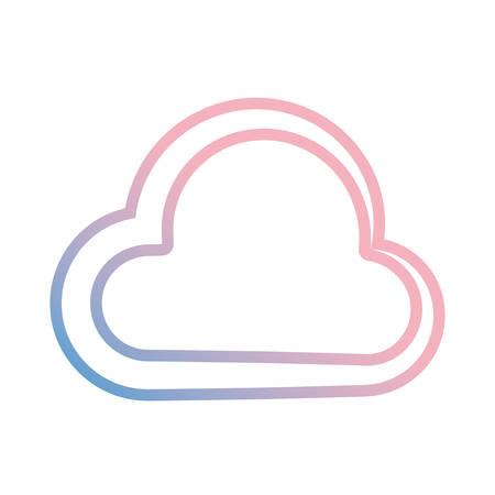Cloud computing symbol icon vector illustration graphic design