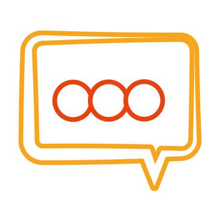 Chat bubble symbol Vector illustration.