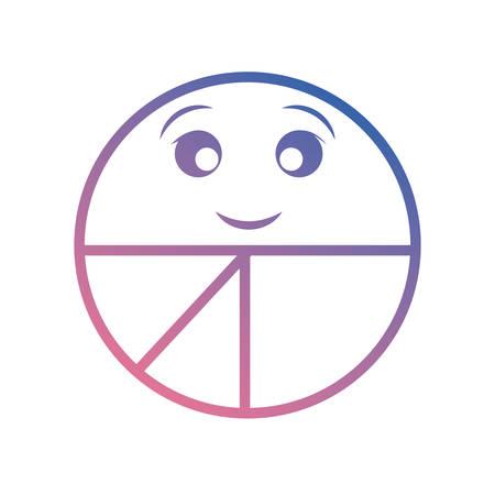kawaii pie chart icon
