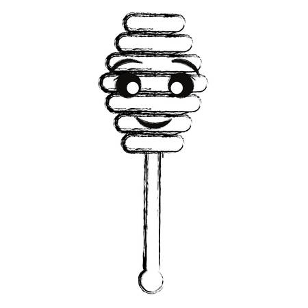 honey dipper vector illustration
