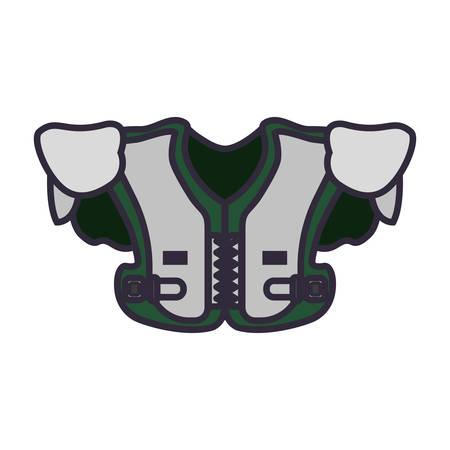 shoulder pads  vector illustration