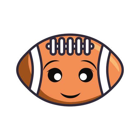 american football ball vector illustration