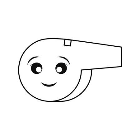 whistle Vector illustration on white background.