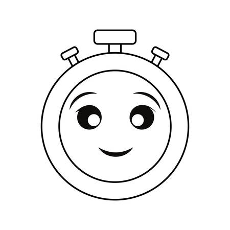 A cute stopwatch vector illustration