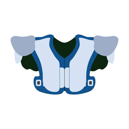 shoulder pads Vector illustration on white background. Ilustrace
