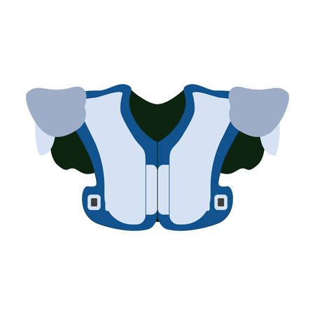 shoulder pads Vector illustration on white background. Illustration