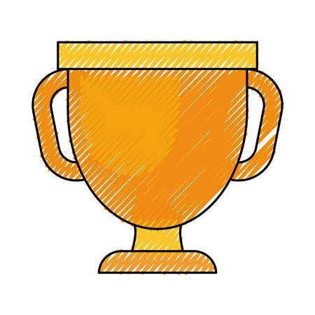 Trophy cup icon on white background illustration.