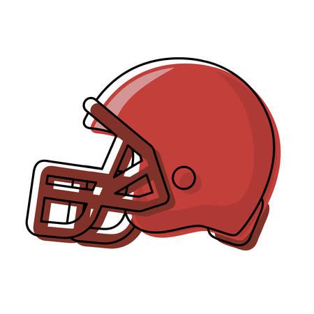 American football helmet icon on white background illustration.