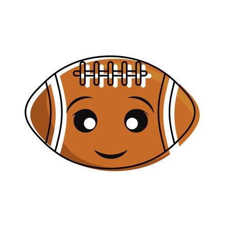 Cute football design on white background illustration.