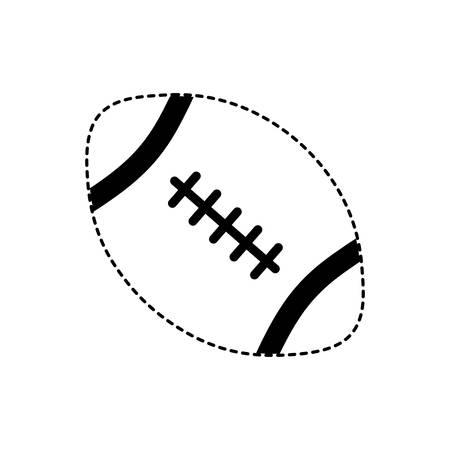 American football design on white background illustration. Ilustração