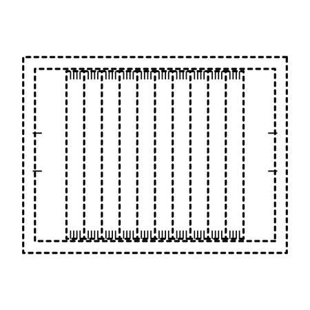 Football field design on white background illustration.