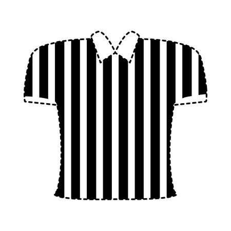 Black and white striped referee shirt sticker vector illustration