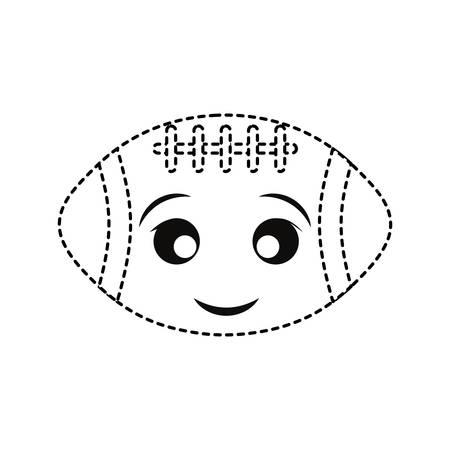 Football sticker design on white background illustration. 向量圖像