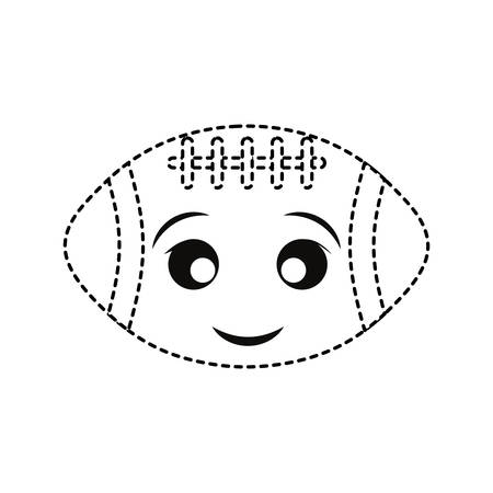 Football sticker design on white background illustration. Illustration
