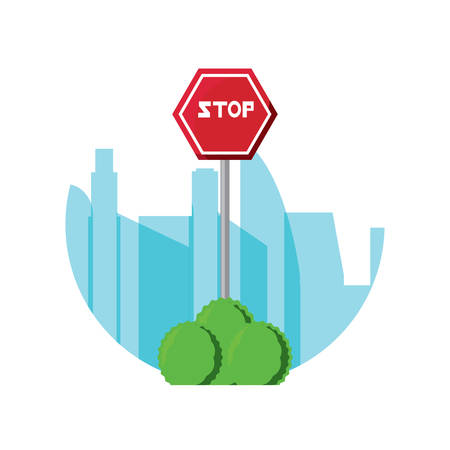Stop road sign icon