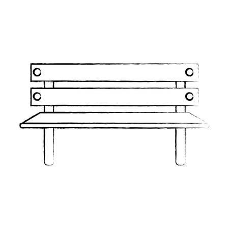 Park bench icon.