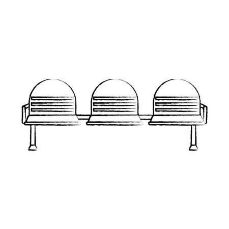 Seats icon  illustration. Illustration