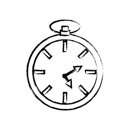 sketch of chronometer icon over white background vector illustration Vettoriali