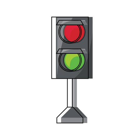traffic light icon over white background colorful design  vector illustration Иллюстрация