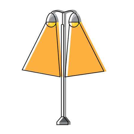Street lamps icon over white background vector illustration Illustration