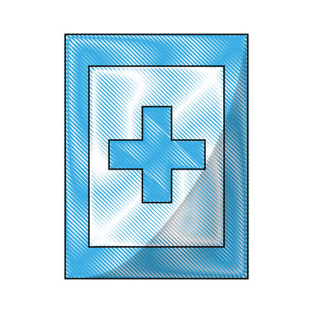 first aid information road sign icon over white background colorful design vector illustration