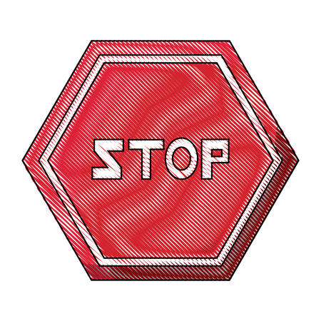 Stop road sign icon design vector illustration