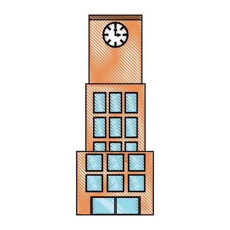 City building icon colorful design illustration. Illustration