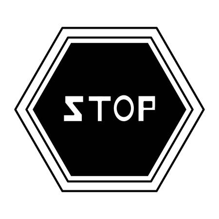 stop sign icon Vector illustration.