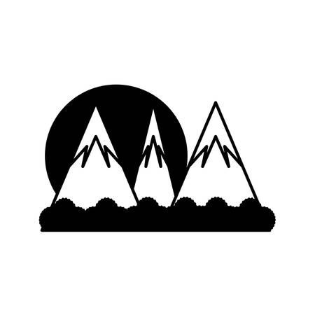 cartoon alps landscape over white background vector illustration Illustration