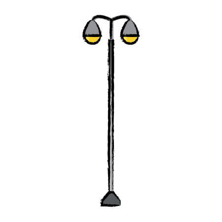street lamps icon over white background vector illustration