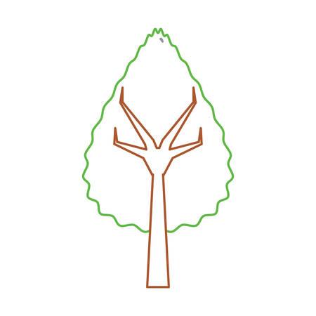 Tree icon illustration.