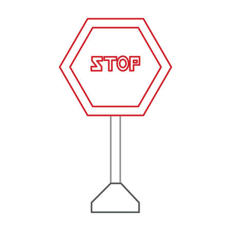 stop road sign icon Illustration