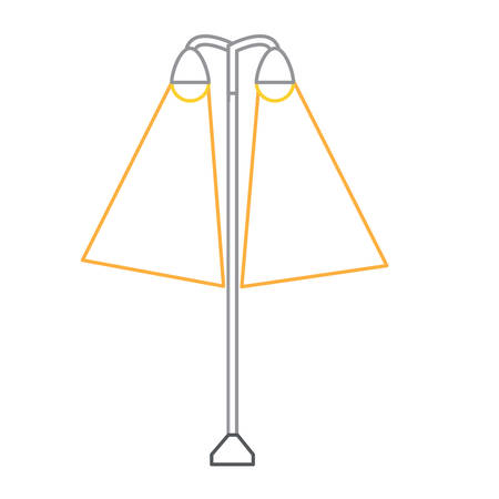 street lamps on icon over white background colorful design vector illustration