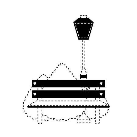 Park bench icon illustration. Illustration