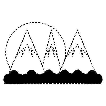 Cartoon alps landscape illustration. Illustration