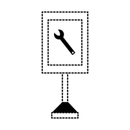 information road sign design Illusztráció