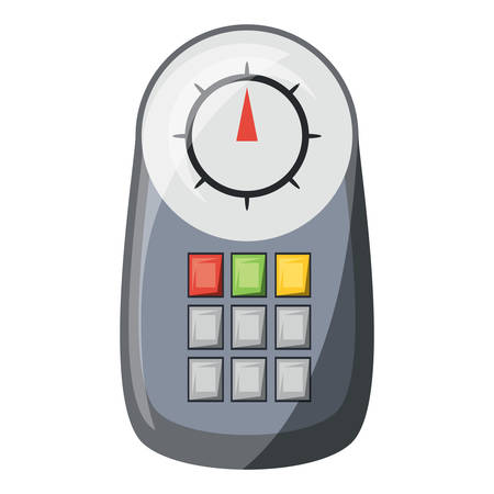 A diagnostic scanner device icon over white background colorful design vector illustration Vectores