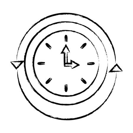 Service and support for customers around the clock and 24 hours. vector illustration