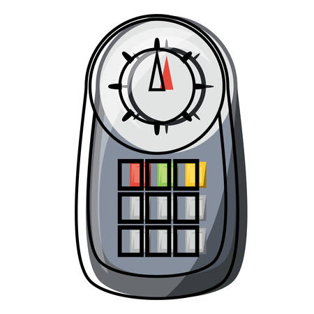 car diagnostic scanner device icon over white background colorful design vector illustration