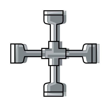 Cross piece tool icon illustration. Illusztráció