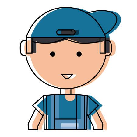Mechanic man icon. Illustration