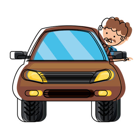 Man inside a car icon.