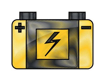 Car battery icon colorful design illustration.