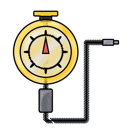 Tire gauge icon.