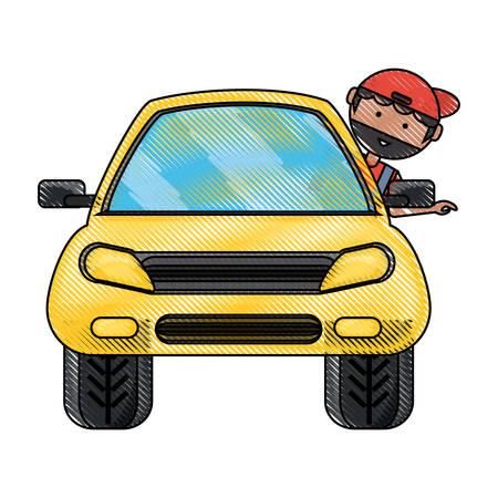 Man inside the car icon.