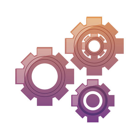 Colorful cogwheels icon.