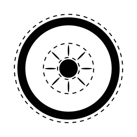 Car tire icon illustration.