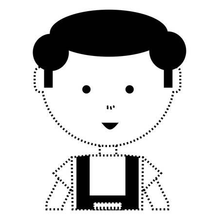 Cartoon mechanic man illustration. Illustration