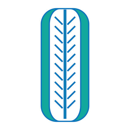 Car tire icon over white illustration with colorful design.