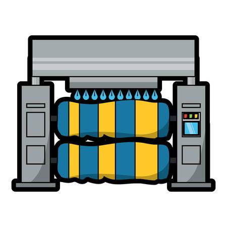 Car wash machine icon over white background colorful design vector illustration